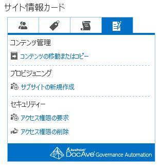 サイト情報カード