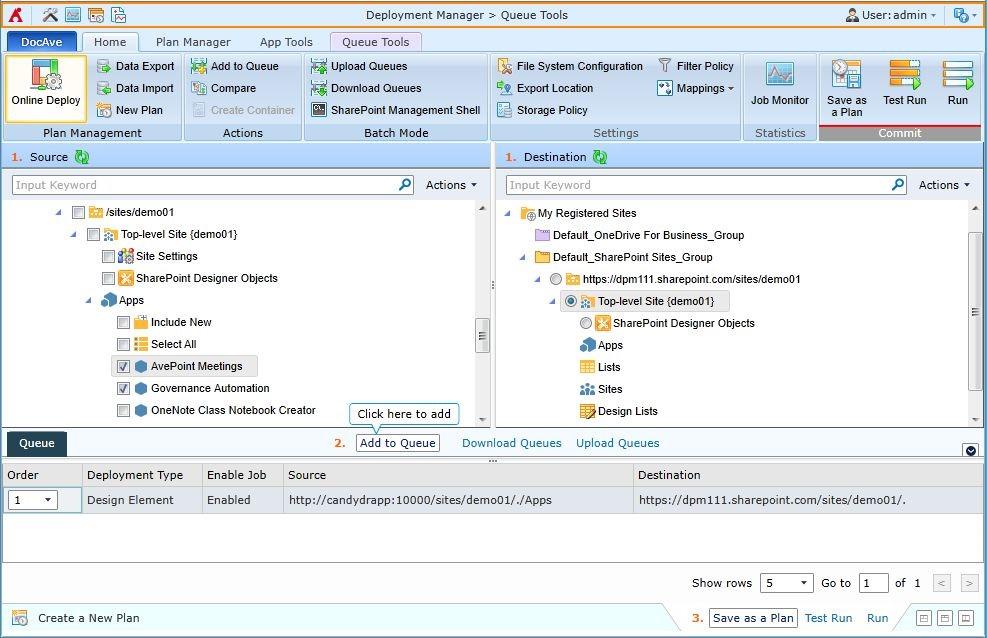 DocAve 展開マネージャーで、ハイブリッド型のインフラストラクチャの展開も管理できるように