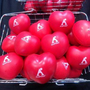 自治体総合フェアのAvePoint ブースで配布した特製ストレスボール