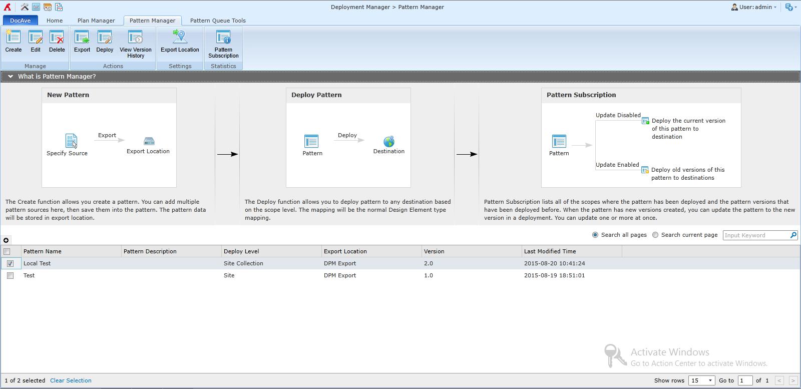 LOB アプリケーション展開に活用可能な新機能 「パターン モード」