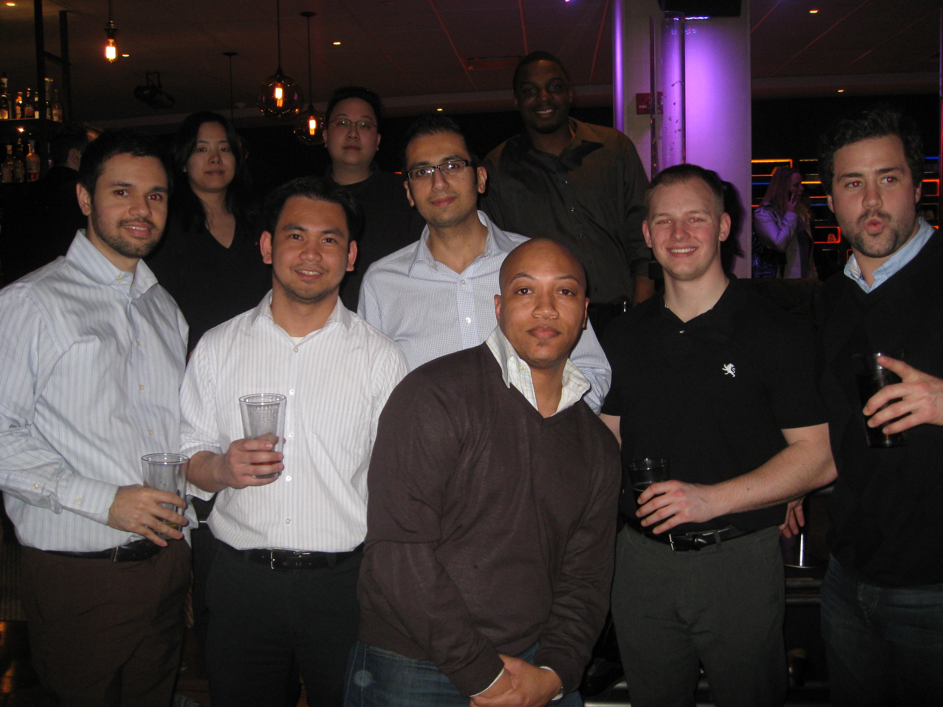 The AvePoint Team at Frames Bowling Lounge NYC