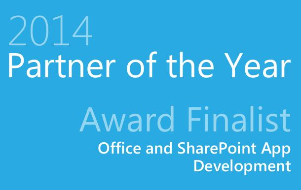 2014 Partner of the Year Award Finalist Office and SharePoint App Development