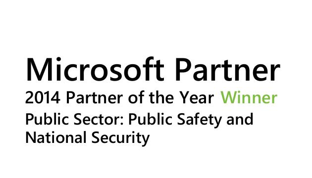 Microsoft Partner 2014 Partner of the Year Winner Public Sector: Public Safety and National Security