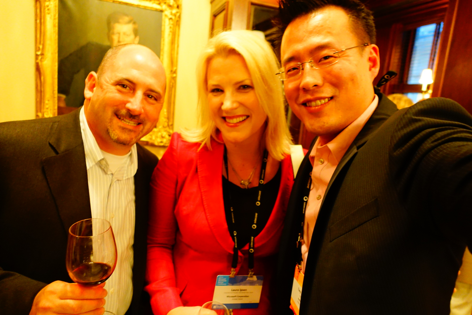 TJ at the Microsoft CityNext partner event with Microsoft General Manager of Worldwide Government Joel Cherkis and Microsoft Corporate Vice President of Worldwide Public Sector Laura Ipsen.