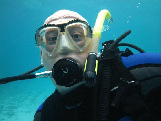 Chris Thorpe on a dive.