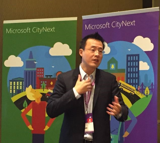 "AvePoint Co-CEO and Co-Founder Dr. Tianyi (TJ) Jiang presents a session entitled ""Explore New Frontiers with Dynamics 'xRM'"" at the Microsoft Dynamics Asia Partner Summit."