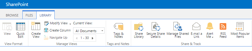 Share document libraries directly from the SharePoint ribbon with AvePoint Perimeter