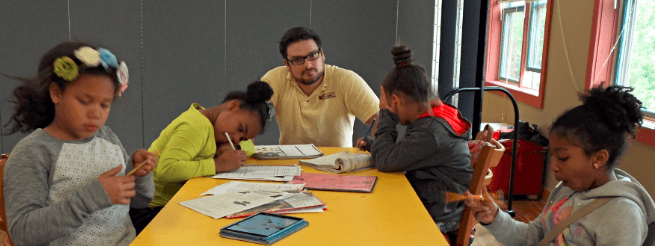 Students at The Jubilee Center's after school program