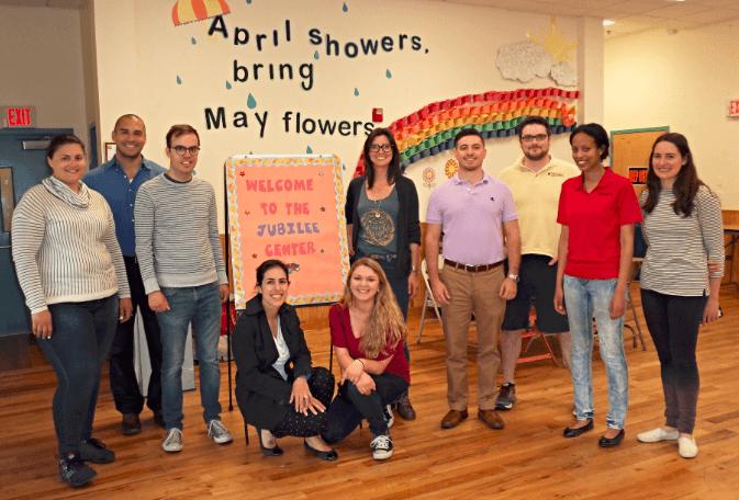 The AvePoint volunteers at the Jubilee Center in Hoboken.