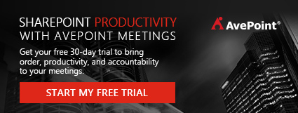 AvePoint Meetings Banner