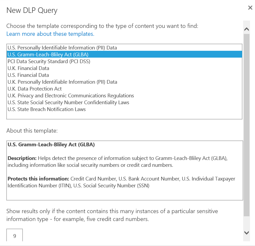 SharePoint 2016 enables you to conduct DLP queries.