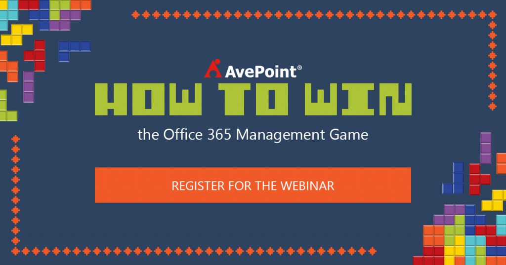avepoint how to win the office 365 management game