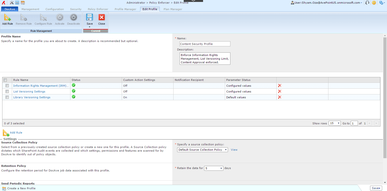 Within Policy Enforcer you can easily define your desired states and configurations.