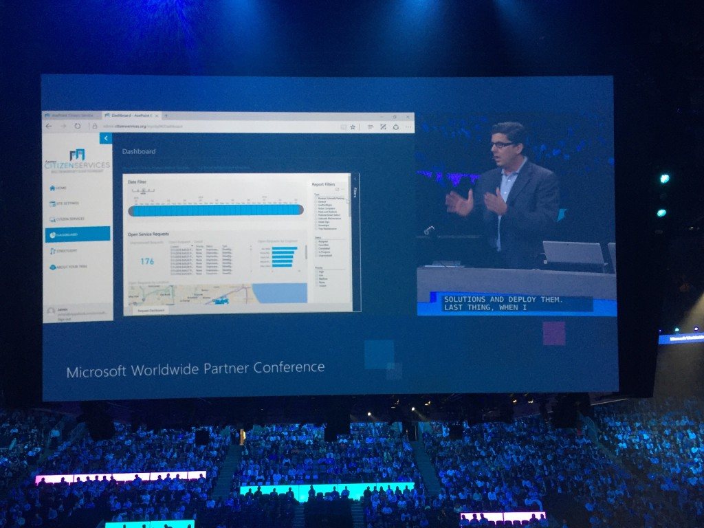 microsoft worldwide partner conference 2016 avepoint citizen services demo