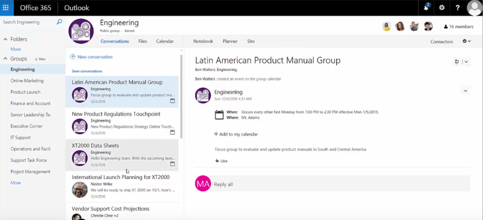 office 365 groups administration