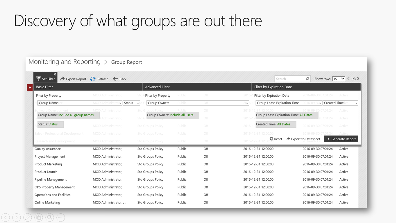 Find out what Groups exist when you create Office 365 Groups