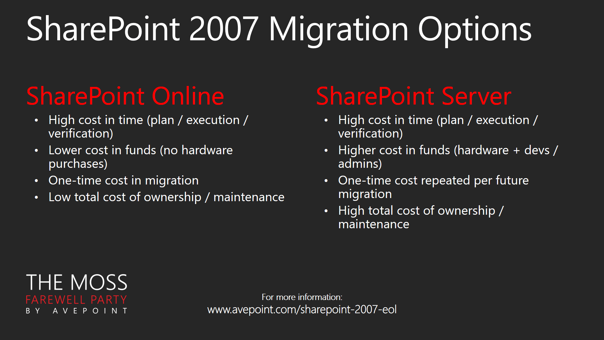 SharePoint 2007 Migration considerations
