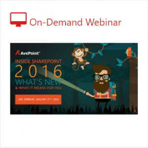 Free webinar about SharePoint 2007 to SharePoint 2016 migration