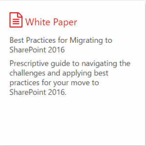 Free whitepaper about SharePoint 2007 to SharePoint 2016 migration