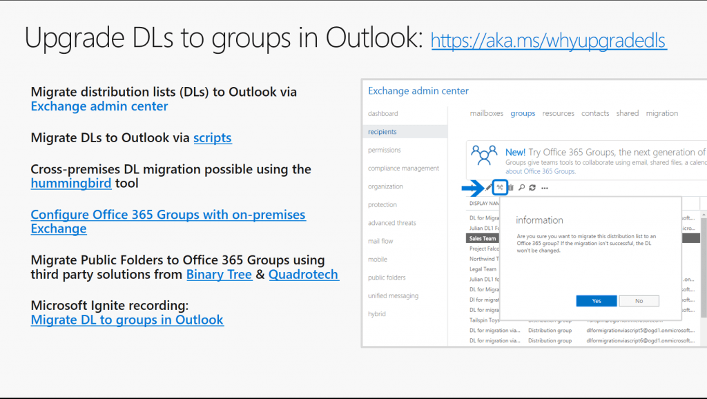 Your Office 365 Groups questions answered - Why you should upgrade your distribution lists to groups in Outlook