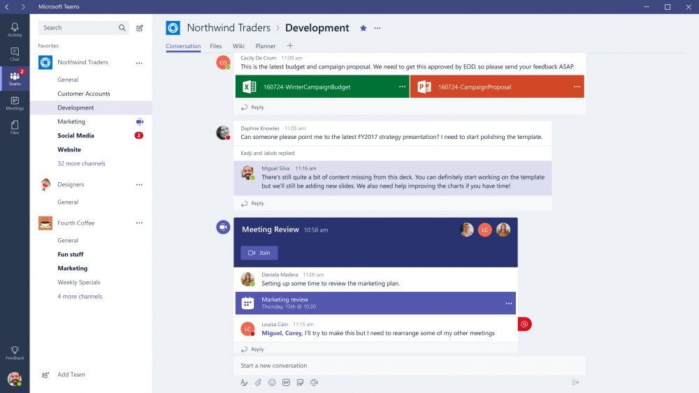 Microsoft Teams vs Slack
