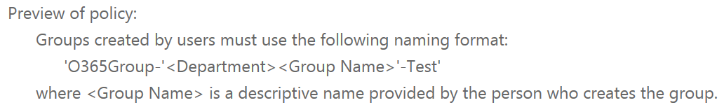 Understanding Groups naming policies