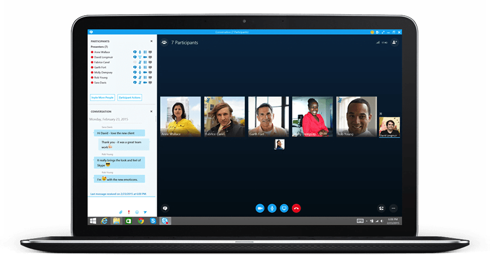 how to conference call on skype for business