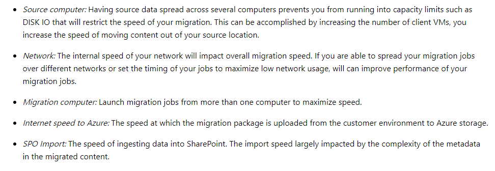 Throttling Office 365 Migration