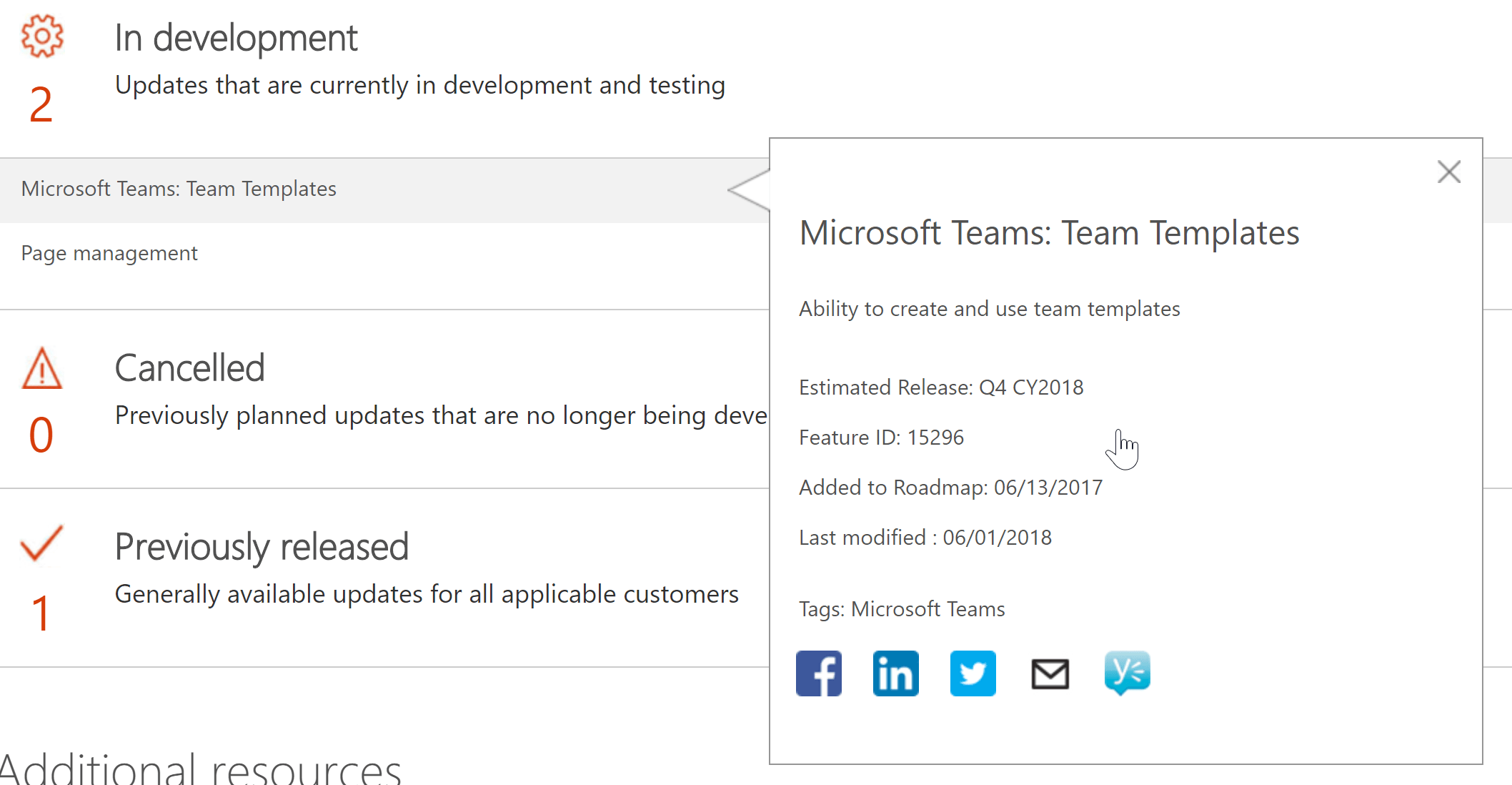This Is A Feature We Have Heard Microsoft Previously Signal As Templates For Teams And Currently Listed On Their Public Roadmap Release In Q4 2018