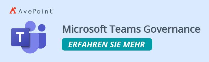 MS Teams Governance